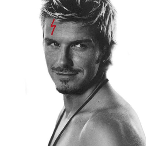 Becks with a Harry Potter scar