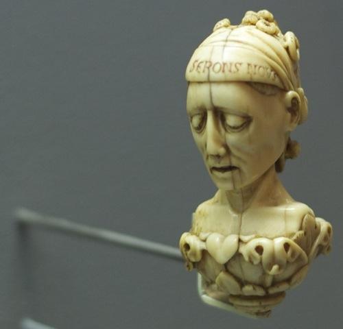 medieval ivory head