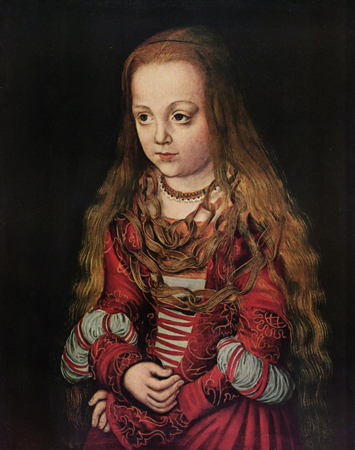 portrait of a Saxon Princess, Lucas Cranach the Elder
