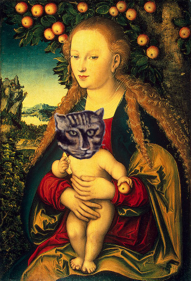 Virgin and cat